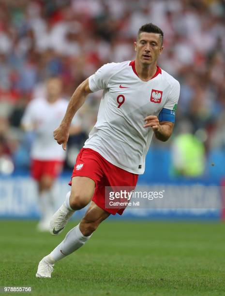 Robert Lewandowski of Poland during the 2018 FIFA World Cup Russia group H match between Poland and Senegal at Spartak Stadium on June 19 2018 in...