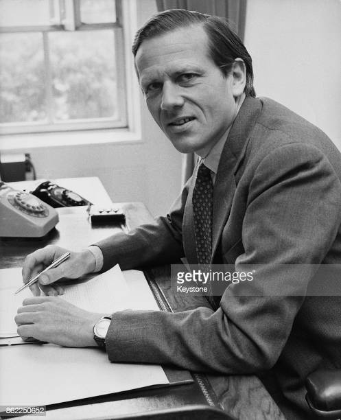 Robert Lindsay 29th Earl of Crawford styled Lord Balniel the new Minister of State for Defence 26th June 1970