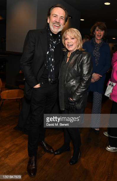 Robert Lindsay and Elaine Paige attend the press night performance of Message in A Bottle at The Peacock Theatre on February 19 2020 in London England