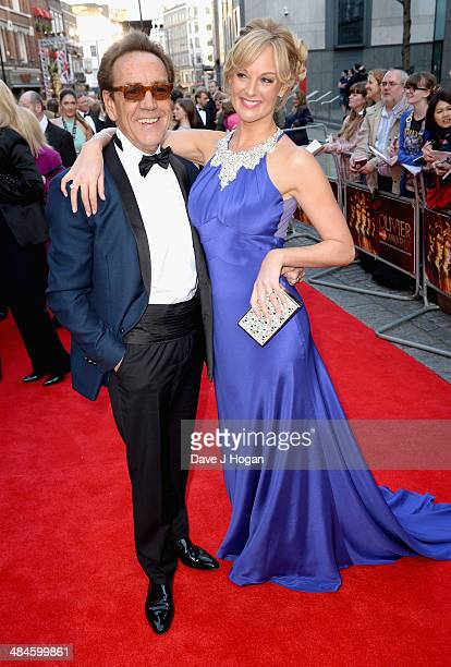 Robert Lindsay and Katherine Kingsley attend the Laurence Olivier Awards at the Royal Opera House on April 13 2014 in London England