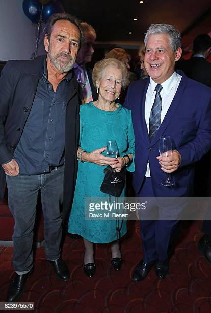 Robert Lindsay Diana Gladys Tonna and Cameron Mackintosh attend the press night after party for Half A Sixpence at The Prince of Wales Theatre on...