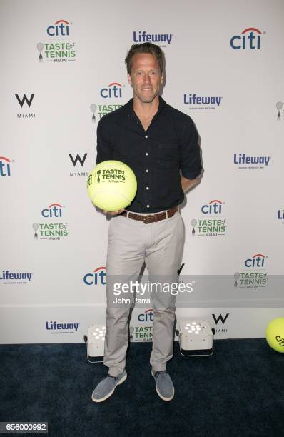 Robert Lindstedt attends the Citi Taste Of Tennis Miami at W Hotel on March 20 2017 in Miami Florida
