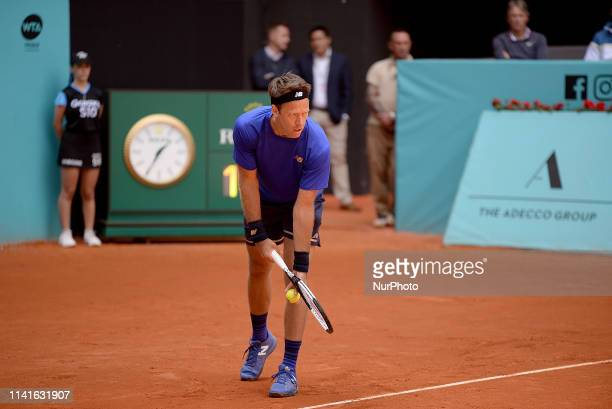 Robert Lindstedt during day three of the Mutua Madrid Open at La Caja Magica in Madrid on 6th May, 2019.