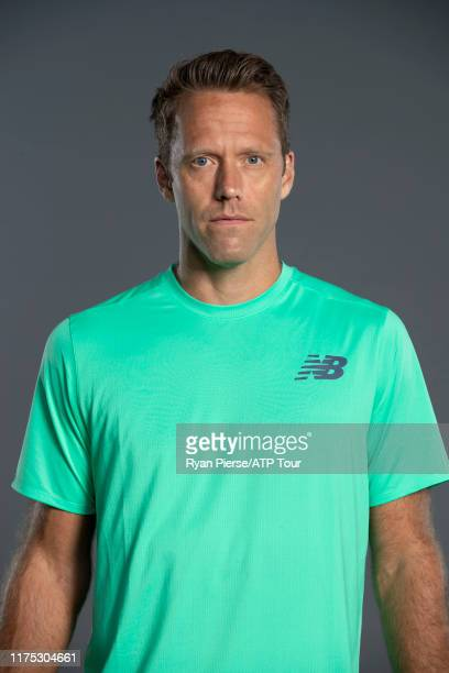 Robert Lindstedt of Sweden poses for his official portrait at the Australian Open at Melbourne Park on January 11, 2019 in Melbourne, Australia.