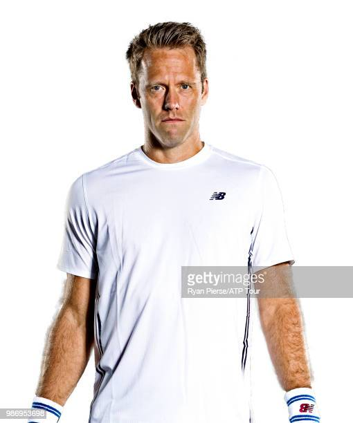 Robert Lindstedt of Sweden poses for portraits during the Australian Open at Melbourne Park on January 14 2018 in Melbourne Australia