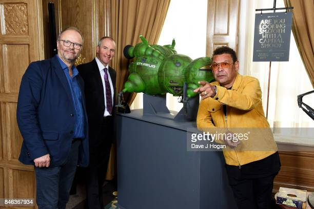 Robert Llewellyn Chris Barrie and Craig Charles attend the UKTV Live 2017 photocall at Claridges Hotel on September 13 2017 in London England...