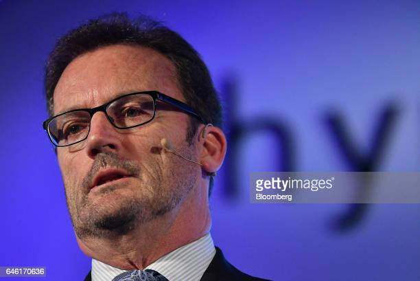 Robert Lloyd chief executive officer of Hyperloop Technologies Inc known as Hyperloop One speaks during an event in New Delhi India on Tuesday Feb 28...