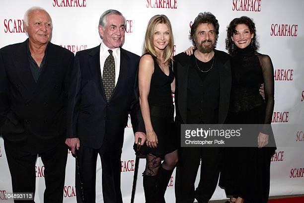 Robert Loggia Martin Bregman Michelle Pfeiffer Al Pacino and Mary Elizabeth Mastrantonio