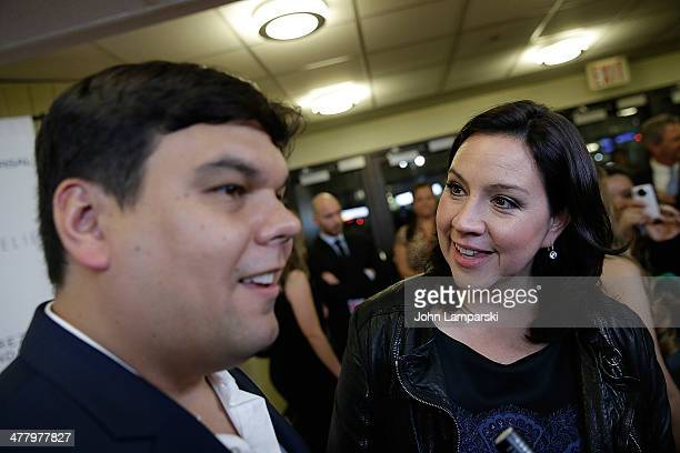 Robert Lopez and Kristen Anderson Lopez attend the Pinoy Relief Benefit concert at Madison Square Garden on March 11, 2014 in New York City.