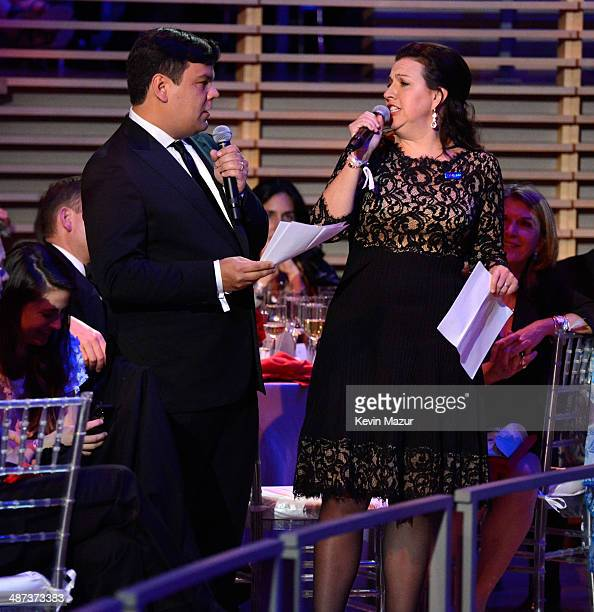 Robert Lopez and Kristen Anderson Lopez speak at the TIME 100 Gala TIME's 100 most influential people in the world at Jazz at Lincoln Center on April...