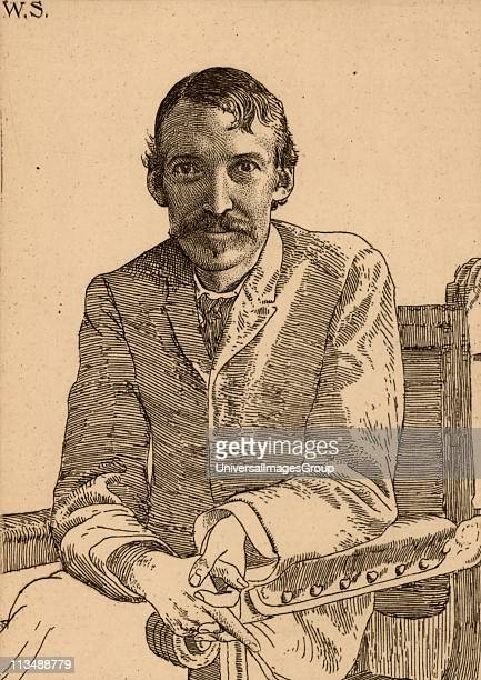 Robert Louis Balfour Stevenson Scottish author born in Edinburgh Etching by William Strang after a photograph Frontispiece of Vailima Letters...