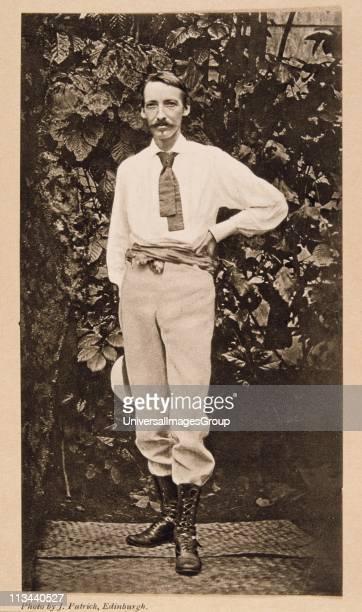 Robert Louis Balfour Stevenson Scottish author From a photograph taken in Samoa where Stevenson settled in 1889