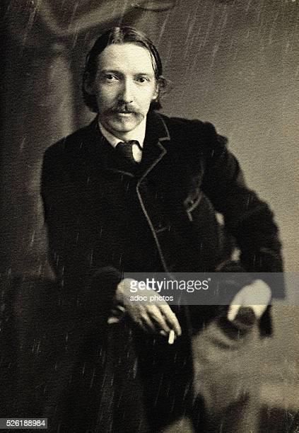 Robert Louis Stevenson Scottish poet and novelist Ca 1890