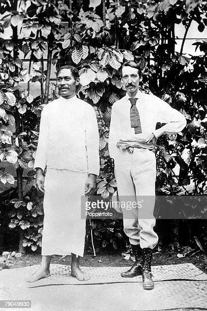 Robert Louis Stevenson The last portrait of the Scottish writer who is pictured in Samoa with Chief Tui