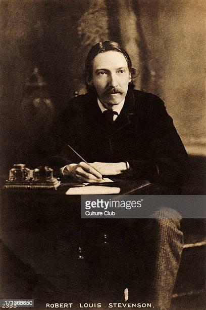 Robert Louis Stevenson writing at his desk English author 13 November 1850 3 December 1894