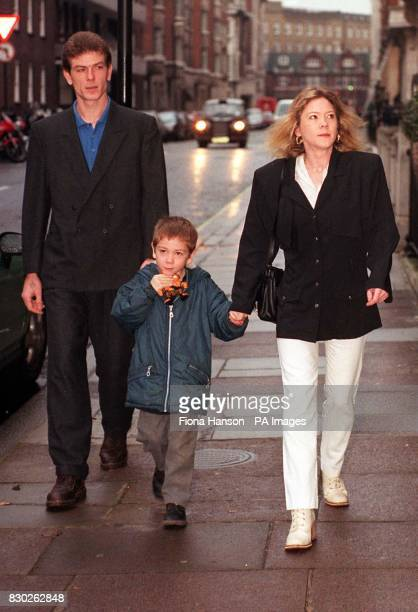 Robert Loveday and Mandy Evans with their son Luke at the General Medical Council London Joshua the couple's younger son died in 1995 after an...