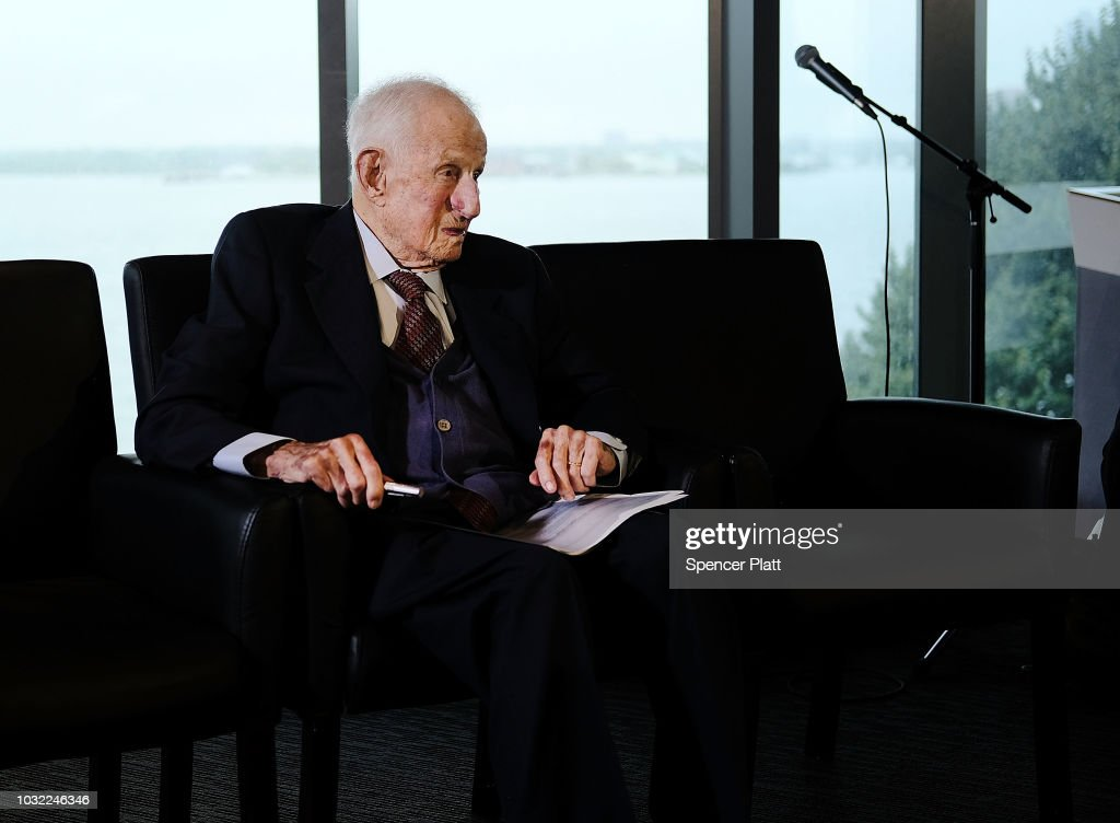 Robert M. Morgenthau, the Manhattan district attorney from 1975 until he retired at age 90 in 2009, attends a news conference on September 12, 2018 in New York City. The event celebrated the recovered Impressionist painting 'Two Women in a Garden,' painted in 1919 by Pierre-Auguste Renoir The work of art originally belonged to Sulitzer's grandfather Alfred Weinberger and was stolen by the Nazis in Paris during the World War II. The only living heir, Sylvie Sulitzer became aware of the work in 2013, when the painting had been listed for sale at Christie's in New York. With the Help of the FBI and the United States attorney's office in Manhattan the painting was finally returned to her at a ceremony at the Museum of Jewish Heritage in Lower Manhattan.