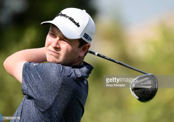 Robert Macintyre of Scotland in action during the pro-am event prior to the DP World Tour Championship at Jumeirah Golf Estates on December 08, 2020...