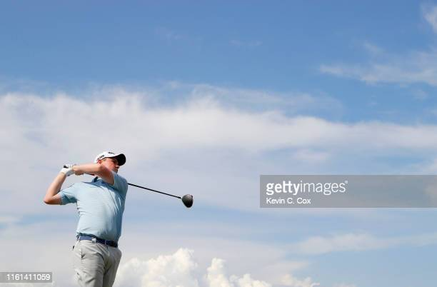 Robert Macintyre of Scotland in action on the 10th hole during Day 1 of the Aberdeen Standard Investments Scottish Open at The Renaissance Club on...