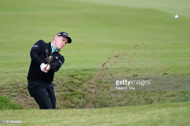 Robert Macintyre of Scotland in action on the 12th hole during Day 2 of the Aberdeen Standard Investments Scottish Open at The Renaissance Club on...