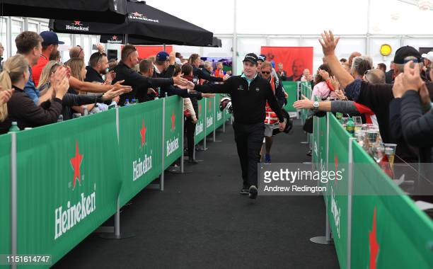 Robert Macintyre of Scotland makes his way to the 14th tee during Day Three of the Made in Denmark at Himmerland Golf & Spa Resort on May 25, 2019 in...
