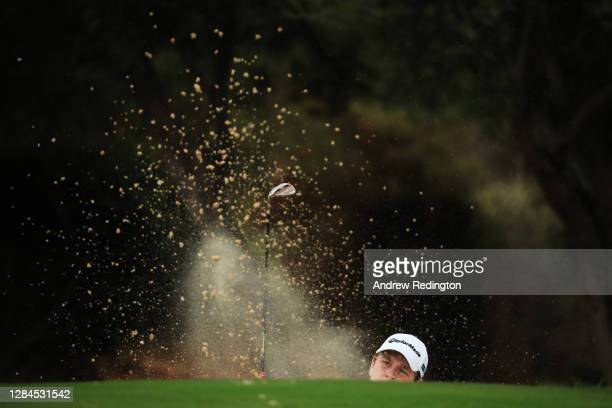 Robert MacIntyre of Scotland plays his third shot on the fourth hole during Day Four of the Aphrodite Hills Cyprus Showdown at Aphrodite Hills Resort...