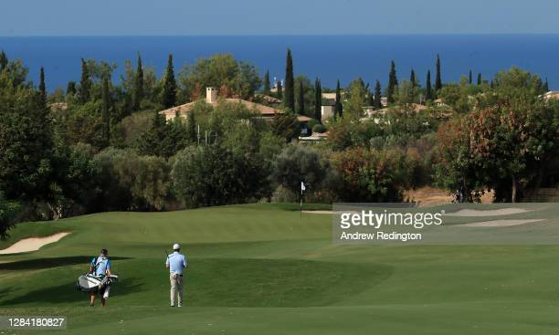 Robert MacIntyre of Scotland walks down the fourth hole during the second round of the Aphrodite Hills Cyprus Showdown at Aphrodite Hills Resort on...