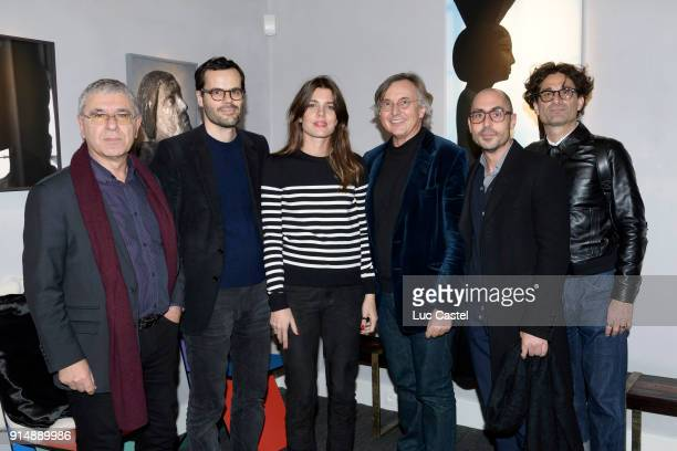 Robert MaggioriMartin d'Orgeval Charlotte CasiraghiPierre Passebon Joseph Cohen and Raphael ZaguryOrly attend the presentation of the Cahier N°3 of...