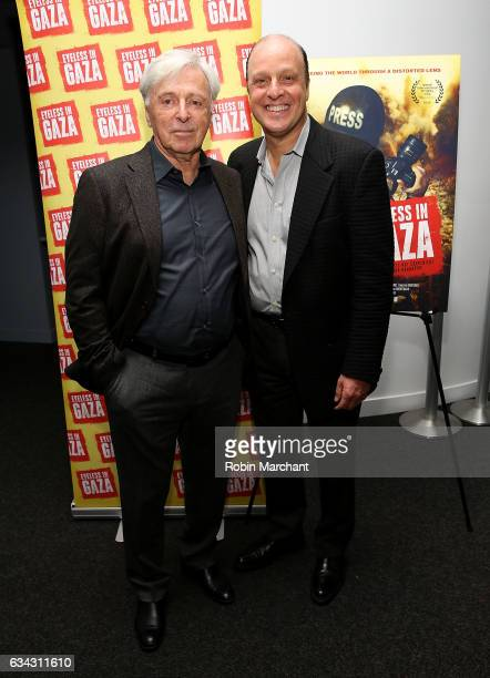 Robert Magid and Morris S Levy attend Eyeless In Gaza NYC Premiere Screening on February 8 2017 in New York City