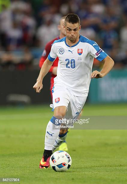 Robert Mak of Slovakia controls the ball during the UEFA EURO 2016 Group B match between Slovakia v England at Stade Geoffroy-Guichard on June 20,...