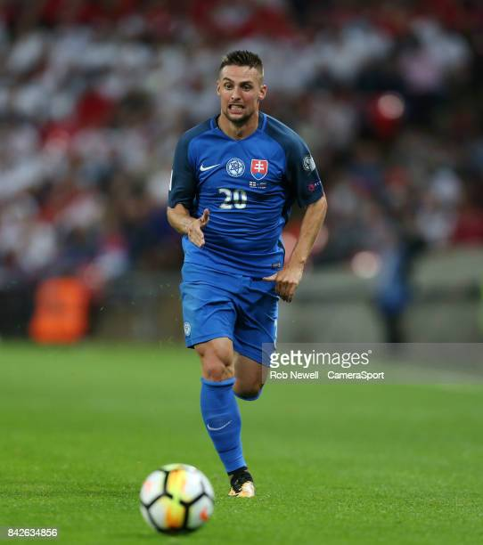 Robert Mak of Slovakia during the FIFA 2018 World Cup Qualifier between England and Slovakia at Wembley Stadium on September 4, 2017 in London,...