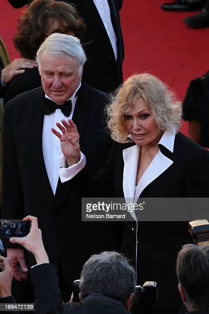 Robert Malloy and actress Kim Novak attend the 'La Venus A La Fourrure' premiere during The 66th Annual Cannes Film Festival at Theatre Lumiere on...