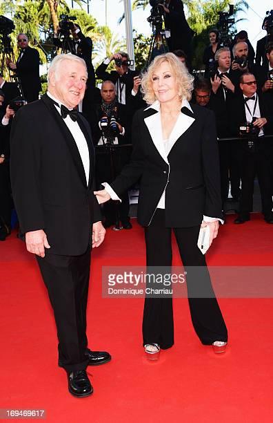Robert Malloy and Kim Novak attend the Premiere of 'La Venus A La Fourrure' during the 66th Annual Cannes Film Festival at the Palais des Festivals...