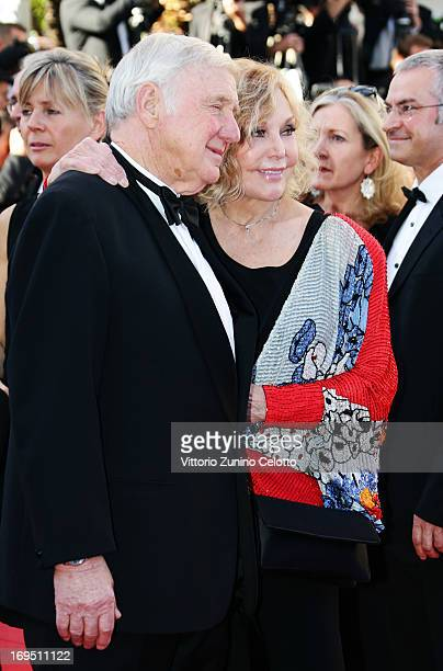 Robert Malloy and Kim Novak attend the 'Zulu' Premiere and Closing Ceremony during the 66th Annual Cannes Film Festival at the Palais des Festivals...