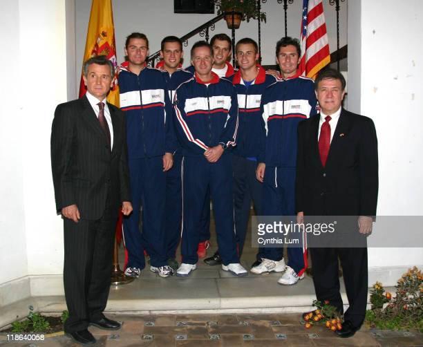 J Robert Manzanares Charge' US Embassy Spain Mardy Fish Mike Bryan Patrick McEnroe Davis Cup Captain Mike Bryan Andy Roddick Vince Spadea Paulino...