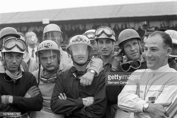 Robert Manzon Froilan Gonzalez Cesare Perdisa Alfonso de Portago Stirling Moss Grand Prix of Great Britain Silverstone Circuit 14 July 1956 Drivers...