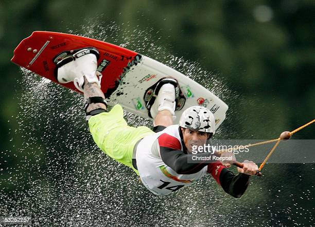 Robert Mapp of the US in the discipline of Wakeboard during the World Games 2005 on July 18 2005 in Duisburg Germany