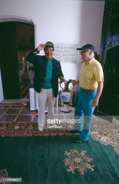 Robert Maxwell invité chez Malcolm Forbes pour le 70ème anniversaire de ce dernier qu'il fêtera dans son palais à Tanger au Maroc