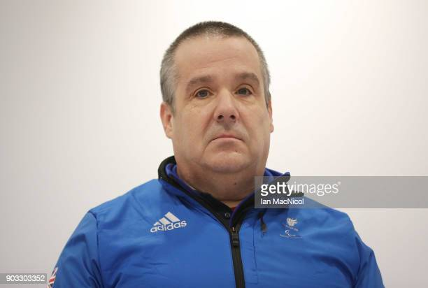 Robert McPherson is photographed at announcement of the ParalympicsGB Wheelchair Curling Team at The National Curling Centre on January 10 2018 in...