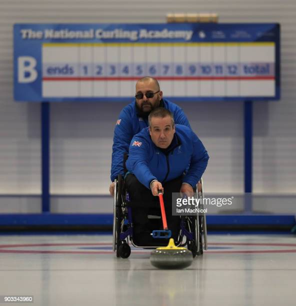Robert McPherson is seen at announcement of the ParalympicsGB Wheelchair Curling Team at The National Curling Centre on January 10 2018 in Stirling...