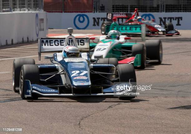 Robert Megennis during the Indy Lights Race of St Petersburg on March 9 at the Streets of St Petersburg in St Petersburg FL