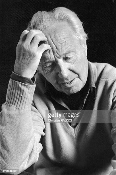 Robert Merle In Montfort L Amaury France In 1982 The French writer Robert Merle at his home in Montfort l'Amaury Yvelines