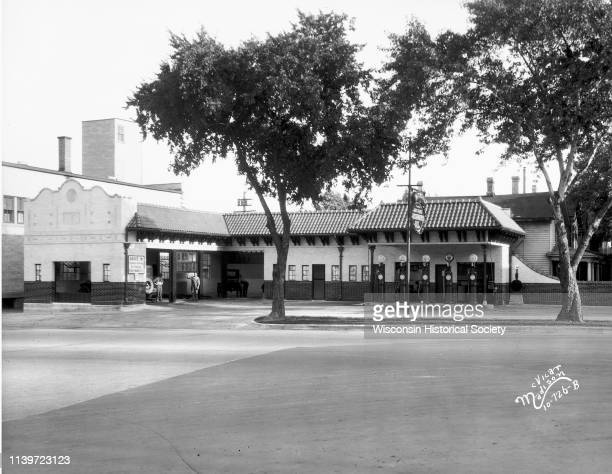 Robert Mitchell's Madison service station 529 University Avenue Madison Wisconsin August 7 1928 During the 1920s service stations evolved from...