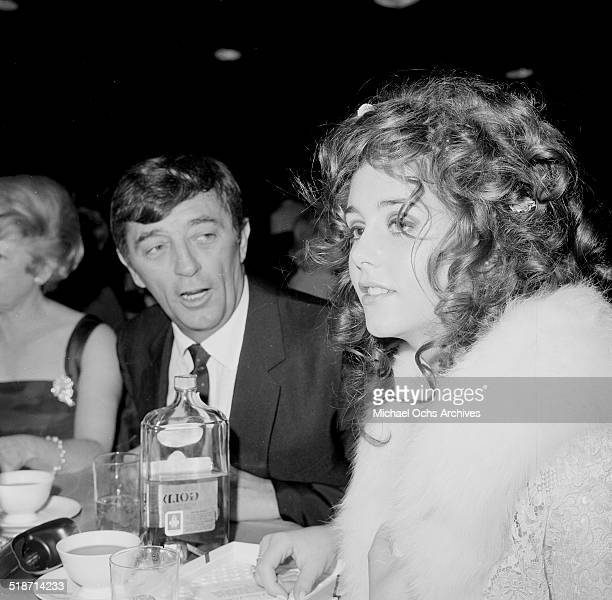 Robert Mitchum and daughter Trini Mitchum attend an event in Los AngelesCA