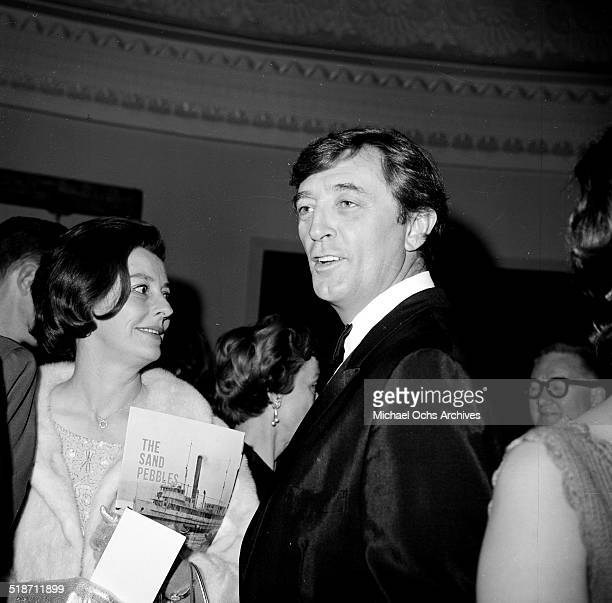 Robert Mitchum and his wife Dorothy attend the movie premiere of The Sand Pebbles in Los AngelesCA