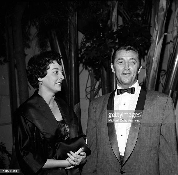 Robert Mitchum and wife Dorothy attend an event in Los AngelesCA