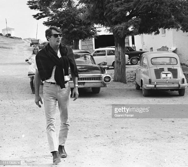 Robert Mitchum during his stay in Madrid Madrid Spain
