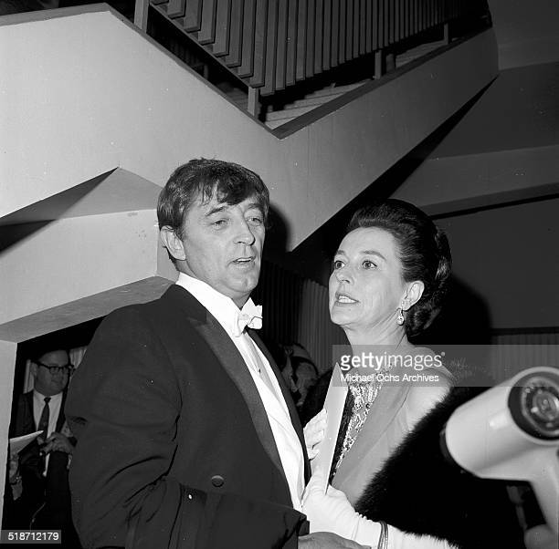 Robert Mitchum his wife Dorothy attend an event in Los AngelesCA