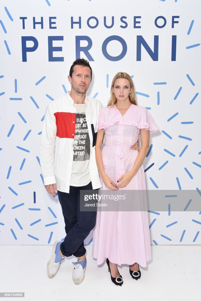 Robert Montgomery and Greta Bellamacina attend St. Vincent & Peroni Nastro Azzurro Unveil Second Edition of The House of Peroni on October 5, 2017 in New York City.