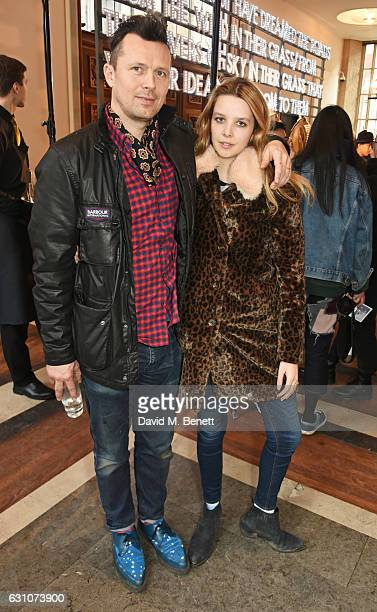 Robert Montgomery and Greta Bellamacina attend the Barbour International presentation during London Fashion Week Men's January 2017 collections at...